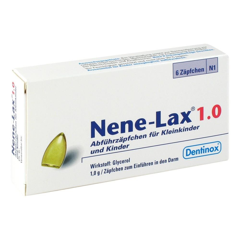 Dentinox Lenk & Schupp Nene-Lax 1,0 für Kleinkinder und Kinder Kinder-Suppositorien 6 Stück