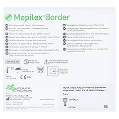 MEPILEX Border Schaumverband 10x10 cm 10 Stück - Rückseite