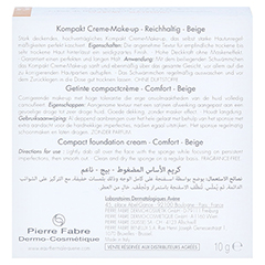 AVENE Couvrance Kompakt Cr.-Make-up reich.beig.2,5 10 Gramm - Rückseite