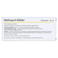 WEIHRAUCH-KÖHLER Kapseln 10 Stück - Rückseite