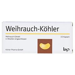 WEIHRAUCH-KÖHLER Kapseln 10 Stück - Vorderseite