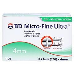 BD MICRO-FINE ULTRA Pen-Nadeln 0,23x4 mm CPC 100 Stück - Vorderseite