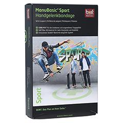 BORT ManuBasic Sport Bandage li.L schw./grün 1 Stück