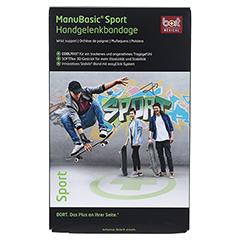 BORT ManuBasic Sport Bandage li.L schw./grün 1 Stück - Vorderseite