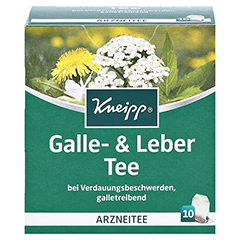 Kneipp Galle- und Leber Tee 10 Stück - Vorderseite
