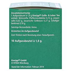 Kneipp Galle- und Leber Tee 10 Stück - Linke Seite