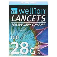 WELLION Lancets 28 G 100 Stück - Vorderseite
