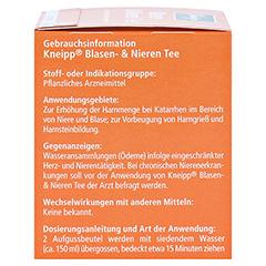Kneipp Blasen- und Nieren-Tee 10 Stück - Rechte Seite