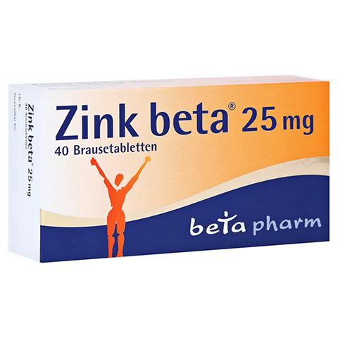 Zink beta 25mg 40 Stück