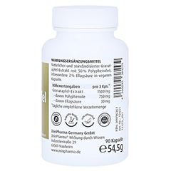 Granatapfel Kapseln 500 mg 90 Stück - Rechte Seite