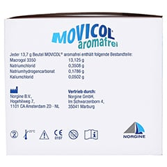 Movicol Aromafrei Pulver zur Herstellung einer Lösung zum Einnehmen 50 Stück - Linke Seite