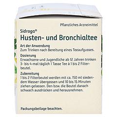 SIDROGA Husten- und Bronchialtee Filterbeutel 20x2.0 Gramm - Linke Seite