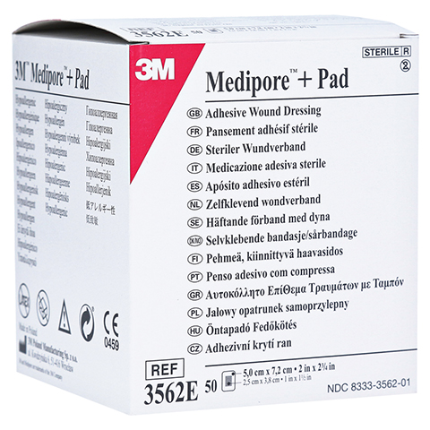 MEDIPORE Plus Pad 3562E steriler Wundverband 50 Stück