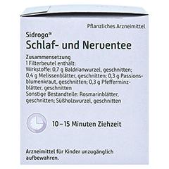 Sidroga Schlaf- und Nerventee 20x2.0 Gramm - Rechte Seite