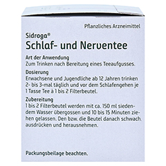 Sidroga Schlaf- und Nerventee 20x2.0 Gramm - Linke Seite