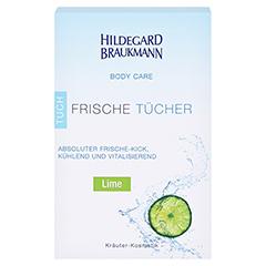 Hildegard Braukmann BODY CARE Lime Frische Tücher 10 Stück - Vorderseite