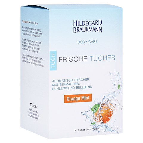 Hildegard Braukmann BODY CARE Orange Mint Frische Tücher 10 Stück