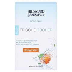 Hildegard Braukmann BODY CARE Orange Mint Frische Tücher 10 Stück - Vorderseite