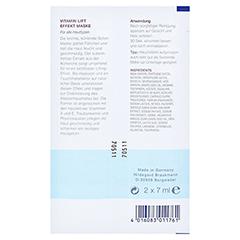 Hildegard Braukmann EMOSIE Vitamin Lift Effekt Maske 2x7 Milliliter - Rückseite