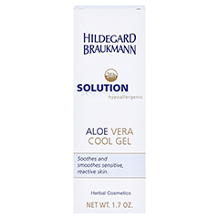 Hildegard Braukmann 24H SOLUTION Aloe Vera Cool Gel 50 Milliliter - Rückseite