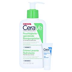 Cerave Feuchtigkeitsspendende Reinigungslotion + gratis CERAVE Feuchtigkeitslotion 5 ml 236 Milliliter