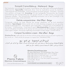 AVENE Couvrance Kompakt Cr.-Make-up matt.beige 2,5 10 Gramm - Rückseite