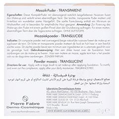 Avène Couvrance Mosaik-Puder transparent 10 Gramm - Rückseite