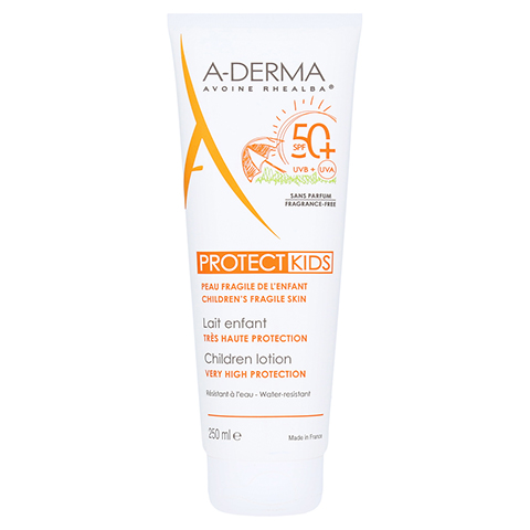 A-DERMA Protect Kids Sonnenschutz Lotion LSF 50+ 250 Milliliter