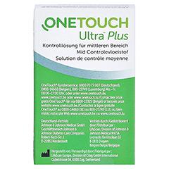 ONE TOUCH Ultra Plus Kontrolllösung mittel 3.8 Milliliter - Rückseite