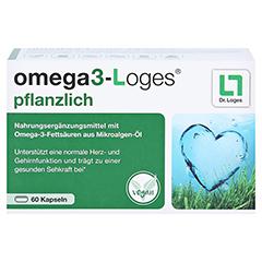Omega3-loges Pflanzlich Kapseln 60 Stück - Vorderseite