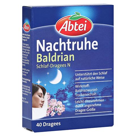 Abtei Nachtruhe Baldrian Schlaf-Dragees N 40 Stück