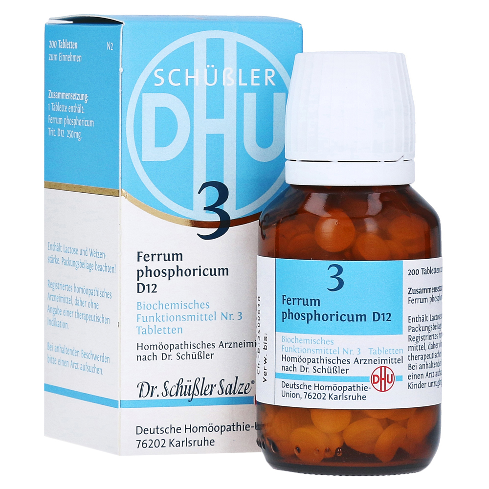 Biochemie Dhu 3 Ferrum Phosphoricum D 12 Tabletten 200 Stück N2