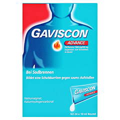 Gaviscon Advance Pfefferminz Suspension 24x10 Milliliter N2 - Vorderseite