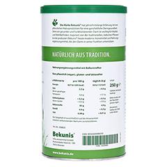 BEKUNIS indische Flohsamen-Schalen 250 Gramm - Linke Seite