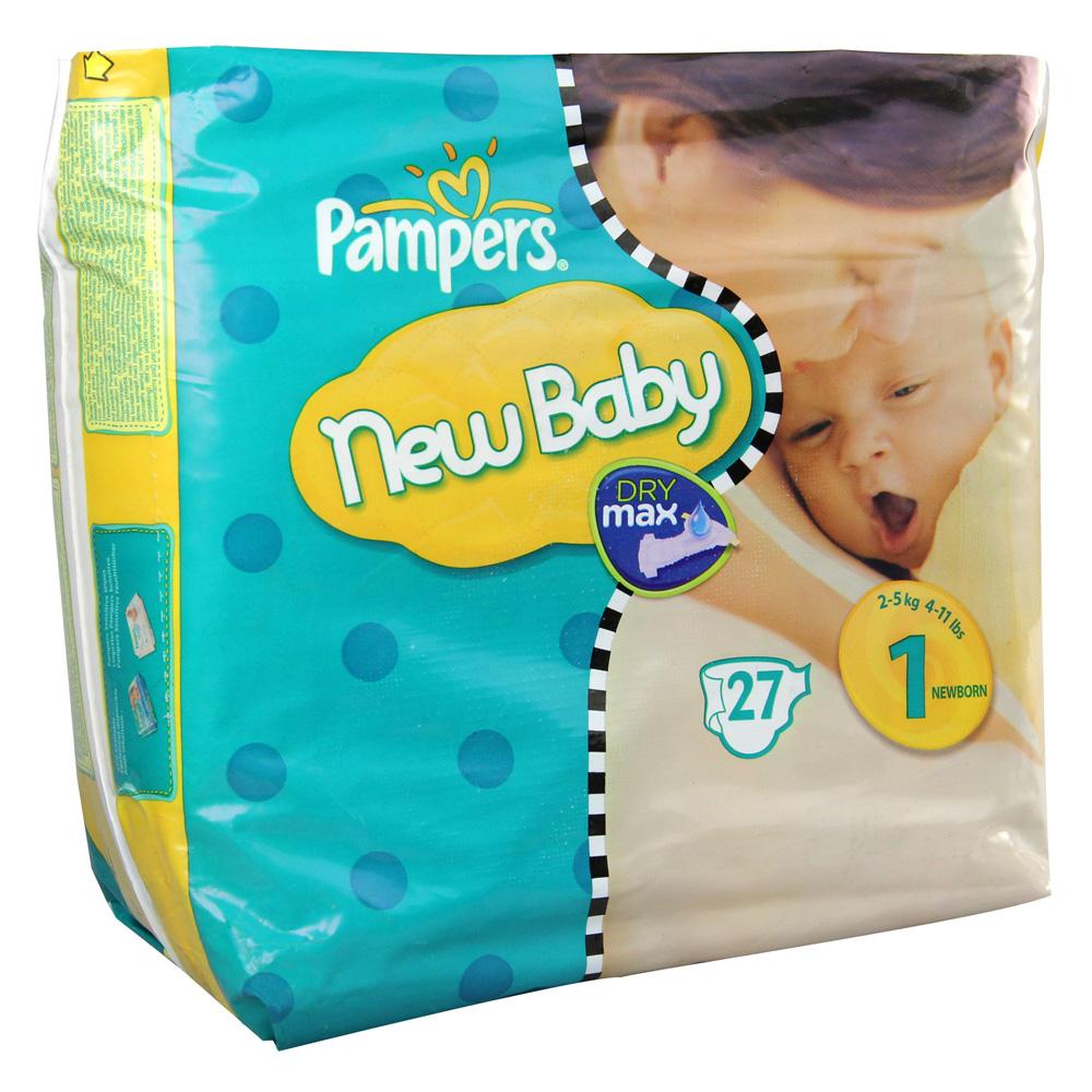 pampers new baby gr 1 newborn 2 5kg 27 st ck online. Black Bedroom Furniture Sets. Home Design Ideas