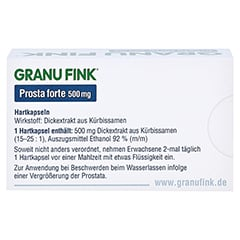 GRANU FINK Prosta forte 500mg 40 Stück - Rückseite