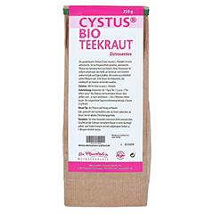 CYSTUS Bio Teekraut Dr.Pandalis 250 Gramm - Rückseite