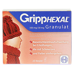 GrippHEXAL 500mg/30mg 20 Stück N2 - Vorderseite