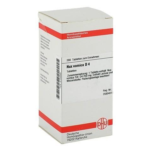 NUX VOMICA D 4 Tabletten 200 St�ck N2