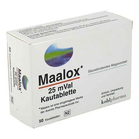 Maalox 25mVal 50 St�ck N2