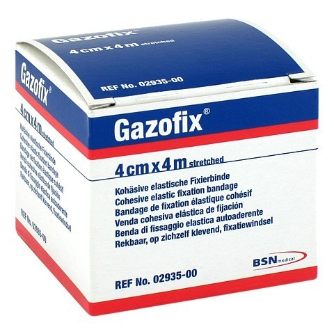 GAZOFIX Fixierbinde 4 cmx4 m hautf. 1 Stück