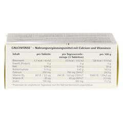 CALCIVITASE Calciumtabl 100 St�ck - Unterseite