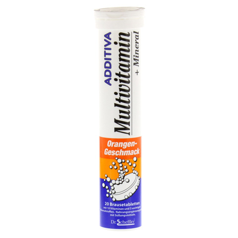 ADDITIVA Multivit.+Mineral Orange R Brausetabl. 20 Stück