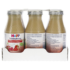 HIPP Trinknahrung Joghurt m.Erdb.&Himb.hochkal. 6x200 Milliliter - Vorderseite