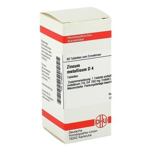 ZINCUM METALLICUM D 4 Tabletten 80 Stück N1