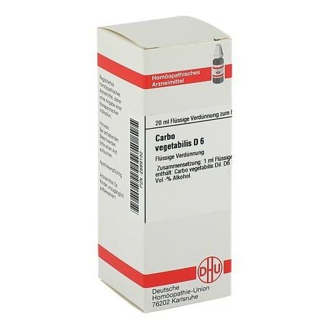 CARBO VEGETABILIS D 6 Dilution 20 Milliliter N1