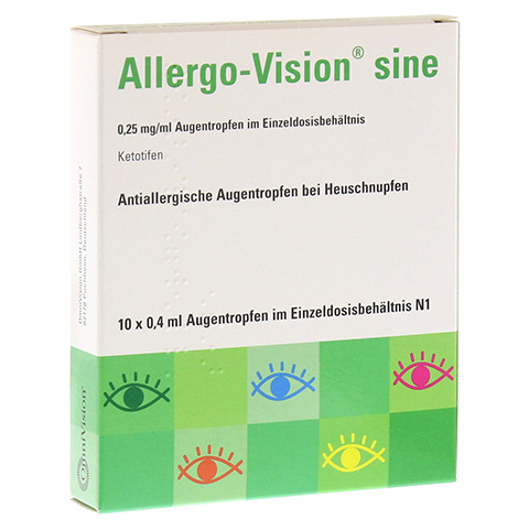 Allergo-Vision sine 0,25mg/ml Augentropfen 10x0.4 Milliliter N1