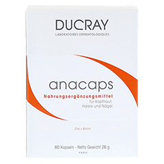 DUCRAY ANACAPS mit Aminosäuren Kapseln 60 Stück - Vorderseite