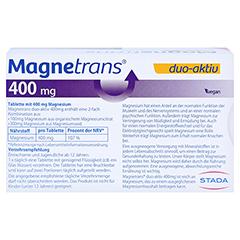 MAGNETRANS duo-aktiv 400 mg Tabletten 50 Stück - Rückseite