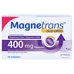 MAGNETRANS duo-aktiv 400 mg Tabletten 50 Stück - Vorderseite